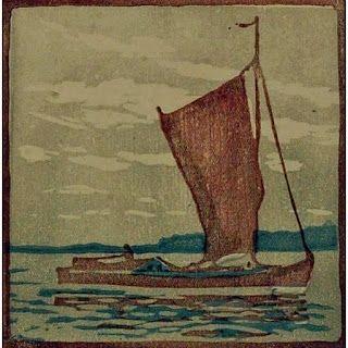 木版 Mass - Segelboot / Sailboat