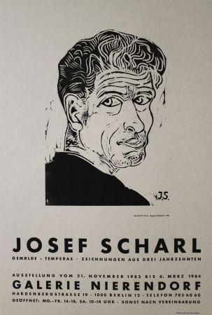 木版 Scharl - Selbstbildnis
