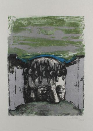 リトグラフ Vacchi - Selbstbildnis / Self-Portrait