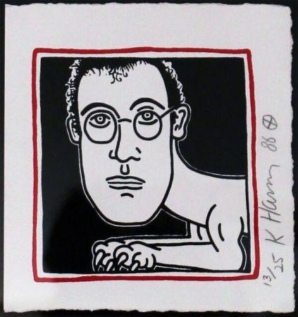シルクスクリーン Haring - Self Portrait