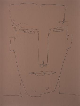 リトグラフ Brown - Self Portrait 17