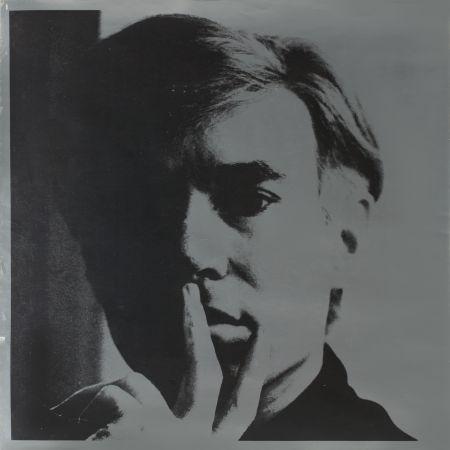 リトグラフ Warhol - Self Portrait by Andy Warhol is a lithograph on silver coated paper