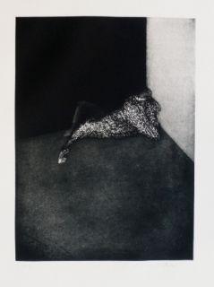 彫版 Scholder - Self Portrait in Barcelona
