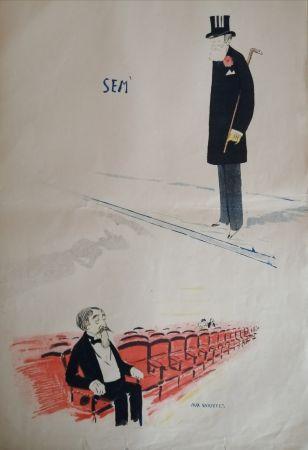 リトグラフ Goursat - SEM - Caricature Album Marseillais