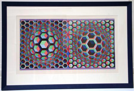 リトグラフ Vasarely - Semiha
