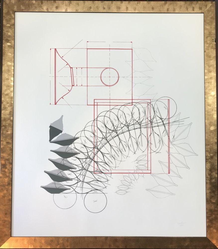 リトグラフ Bonalumi - Senza titolo