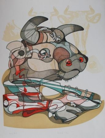 リトグラフ Bodini - Senza titolo