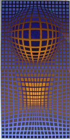 リトグラフ Vasarely - Senza Titolo