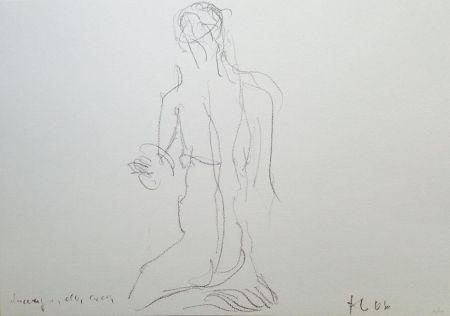 リトグラフ Fabro - Senza titolo