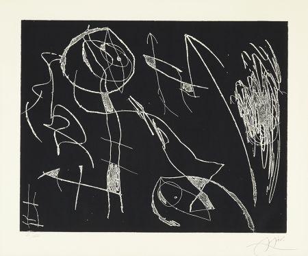 エッチング Miró - Serie Mallorca - Negro y Blanco I