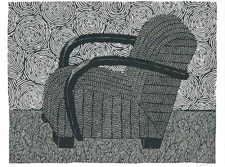 リノリウム彫版 Wahle - Sessel 4