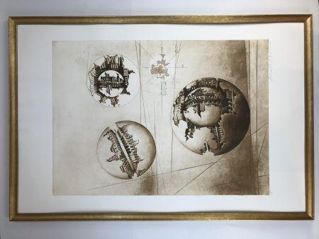 エッチングと アクチアント Pomodoro - Sfera con sfera