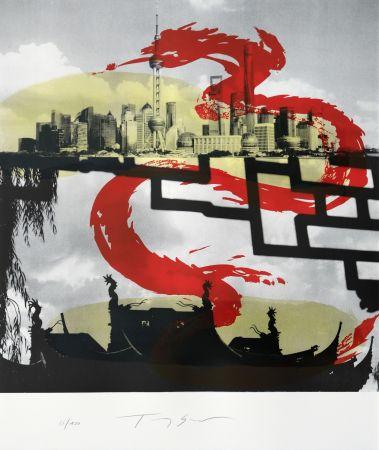 リトグラフ Soulie - Shanghai le Dragon