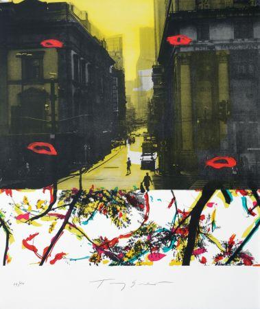 リトグラフ Soulie - Shanghai rue de la Soie