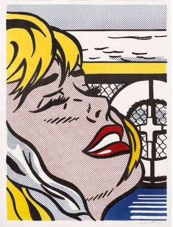 リトグラフ Lichtenstein - Shipboard Girl (Corlett II. 6)