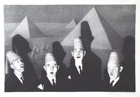 リトグラフ Wood - Shrine quartet