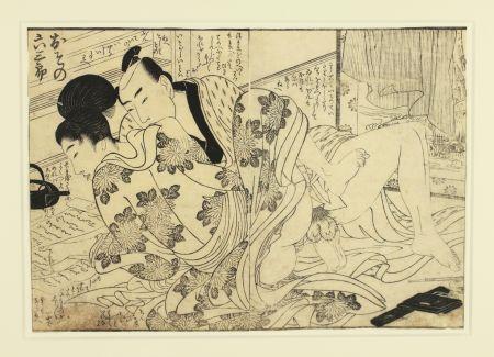 木版 Utamaro - Shunga
