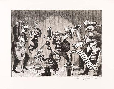 リトグラフ Spiegelman - Silent Six (Black and White)