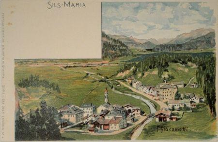 リトグラフ Giacometti - Sils-Maria