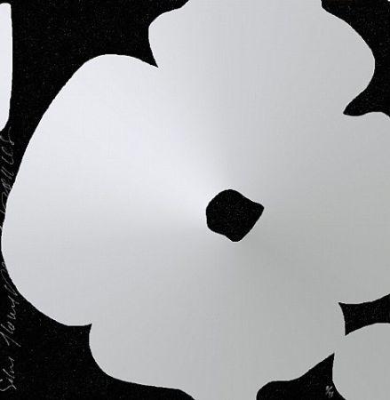 シルクスクリーン Sultan - Silver Flowers