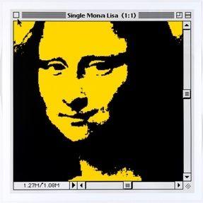 リトグラフ Pusenkoff - Single Mona Lisa yellow for Barcelona