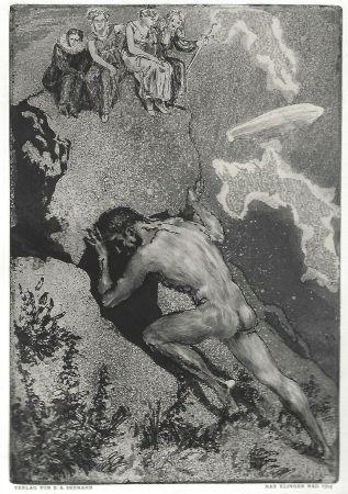 エッチングと アクチアント Klinger - Sisyphus / Die Fakultäten