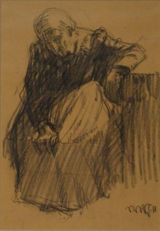 モノタイプ Junghanns - Sitzende alte Frau