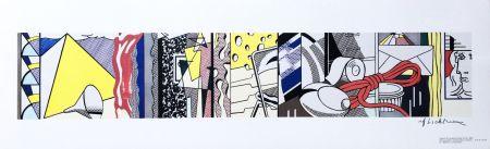 リトグラフ Lichtenstein - Sketch for Greene Street Mural (Hand Signed)