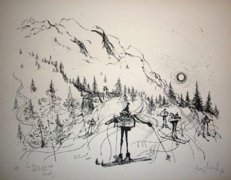 リトグラフ Searle - Ski