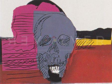 シルクスクリーン Warhol - Skull (Fs Ii.159)