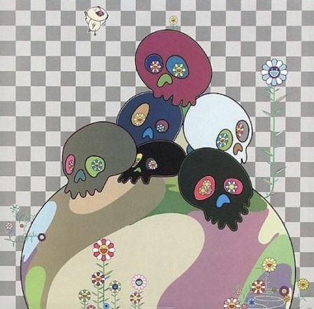 リトグラフ Murakami - Skulls rock