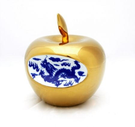 セラミック Lihong - Small Apple – gold