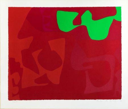 シルクスクリーン Heron - Small Red January 1973: 2