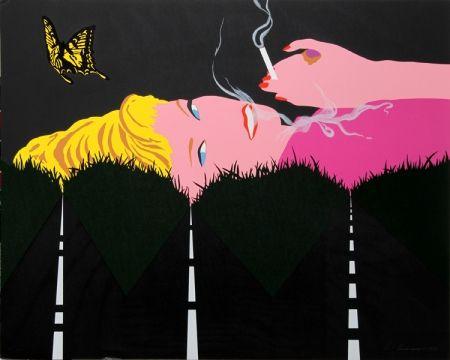 シルクスクリーン D'arcangelo - Smoking Blonde