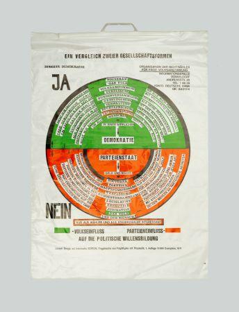 シルクスクリーン Beuys - So kann die Parteiendiktatur uberwunden werden