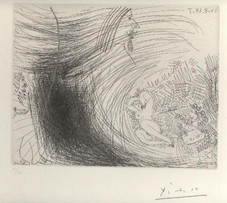 エッチング Picasso - Sogno ad occhi aperti