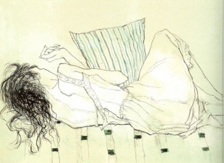 リトグラフ Jansem - Solange du Dos