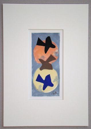 リトグラフ Braque (After) - Soleil et Lune I.