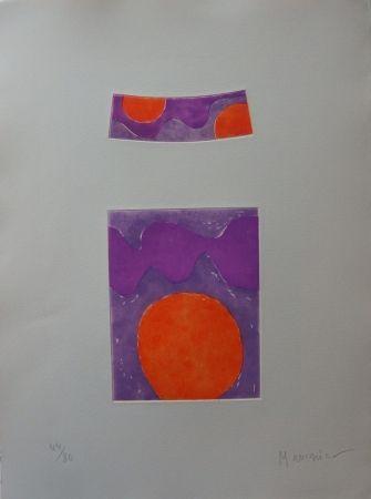 エッチングと アクチアント Manessier - Soleils Oranges