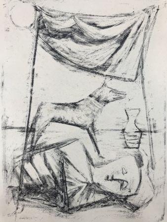 リトグラフ Campigli - SOTTO LA TENDA