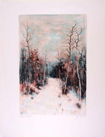 リトグラフ Gantner - Sous la Neige - Under Snow