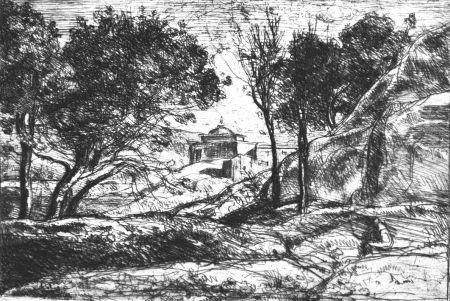 エッチング Corot - Souvenir de Toscane