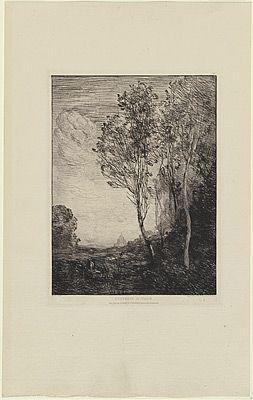 彫版 Corot - Souvenir d'Italie, in