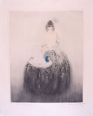 エッチング Icart - Spanish Comb (Blue vanity) - Peigne Espagnol