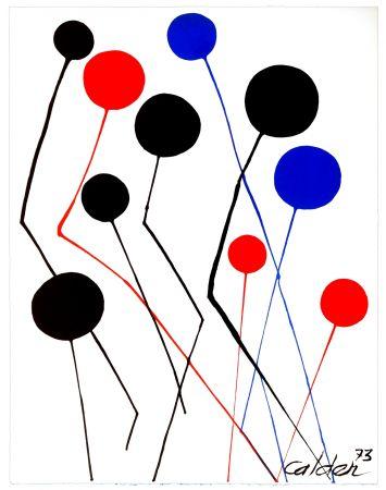 リトグラフ Calder - Spanish refugee aid