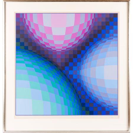 シルクスクリーン Vasarely - Spheres