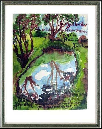 リトグラフ Grass - Spiegelbilder
