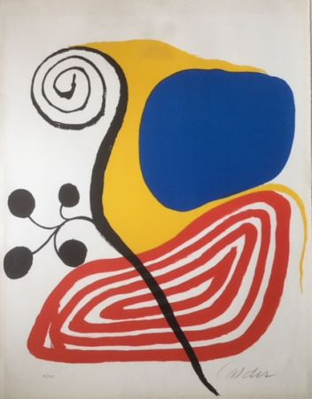 リトグラフ Calder - Spiral Composition