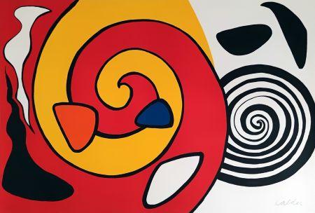 リトグラフ Calder - Spirale et turban