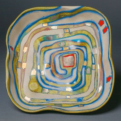 シルクスクリーン Hundertwasser - Spiralental